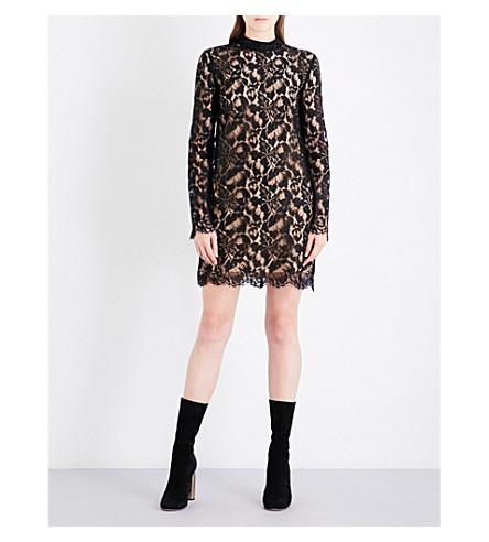 STELLA MCCARTNEY Ciyla floral-lace mini dress (Black