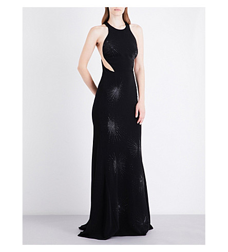 STELLA MCCARTNEY Firework sequin-embroidered crepe gown (Black