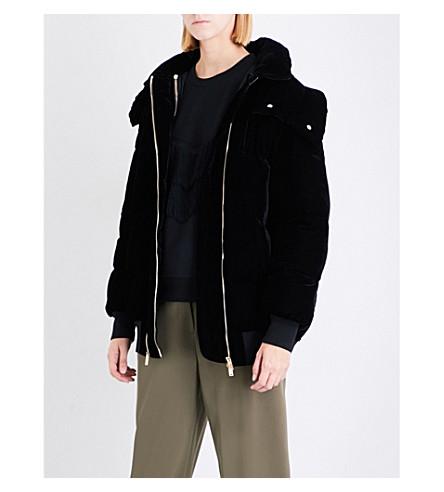 STELLA MCCARTNEY Oversized velvet puffer jacket (Black