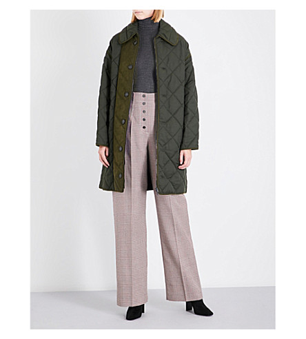 STELLA MCCARTNEY Oversized quilted shell coat (Green