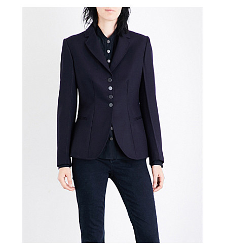 STELLA MCCARTNEY Single-breasted wool blazer (Ink
