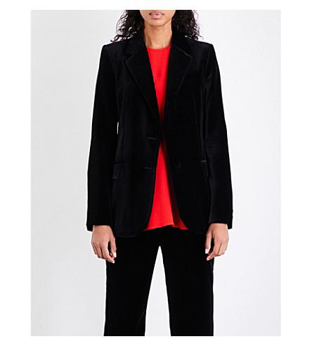STELLA MCCARTNEY Tailored single-breasted velvet jacket (Black
