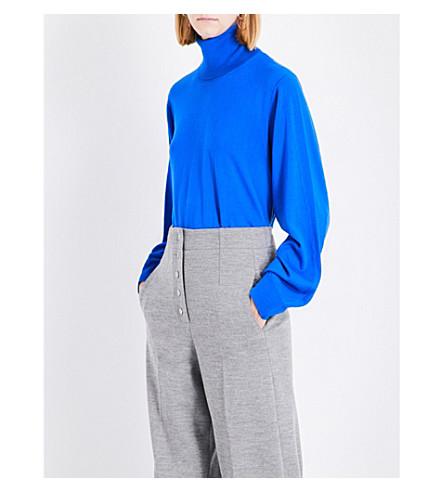 STELLA MCCARTNEY Turtleneck fine-knit wool jumper (Electirc+blue