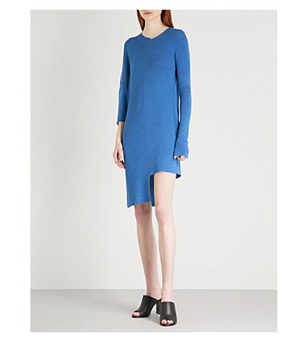 STELLA MCCARTNEY Asymmetric knitted dress (Ink