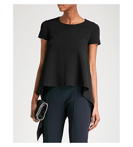 STELLA MCCARTNEY Asymmetric stretch-knit top (Black