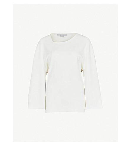 STELLA MCCARTNEY Balloon-sleeve stretch-crepe top (White