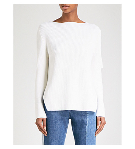 STELLA MCCARTNEY Cutout wool jumper (White