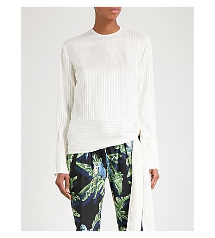 STELLA MCCARTNEY Striped silk blouse (Natual