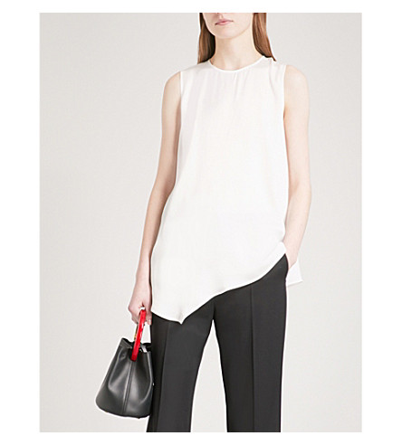 STELLA MCCARTNEY Asymmetric-hem crepe top (White
