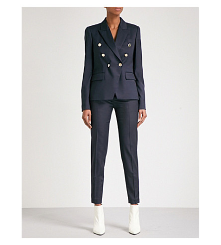 STELLA MCCARTNEY Double-breasted wool blazer (Navy