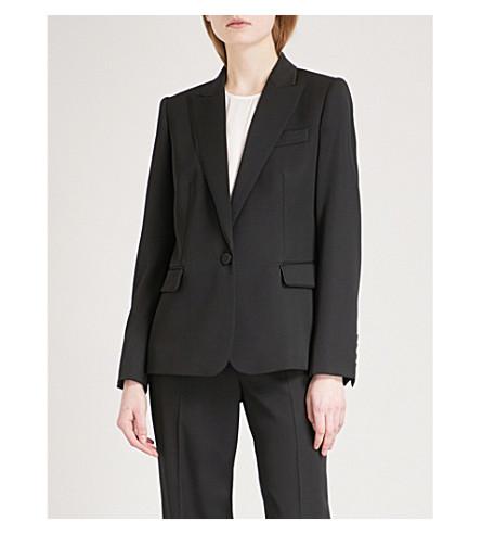STELLA MCCARTNEY Ingrid single-breasted wool tuxedo jacket (Black