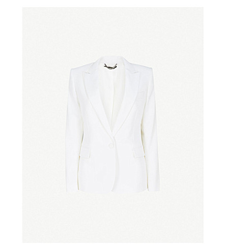 STELLA MCCARTNEY Ingrid single-breasted wool tuxedo jacket (Ivory