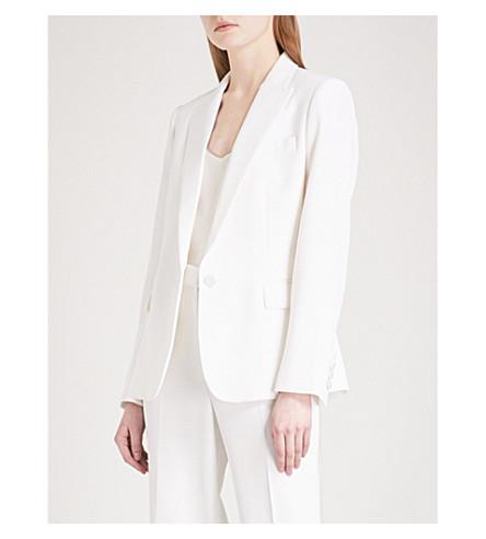 STELLA MCCARTNEY Ingrid single-breasted wool tuxedo jacket (Ivory