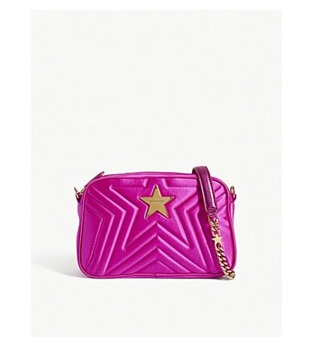 STELLA MCCARTNEY Star satin cross-body bag (Bright+pink