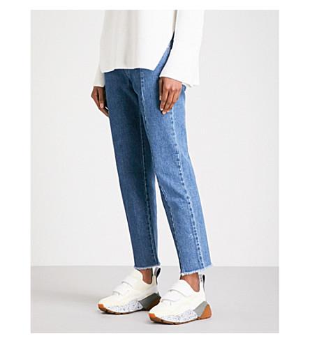 STELLA MCCARTNEY Patchwork boyfriend-fit mid-rise jeans (Blue