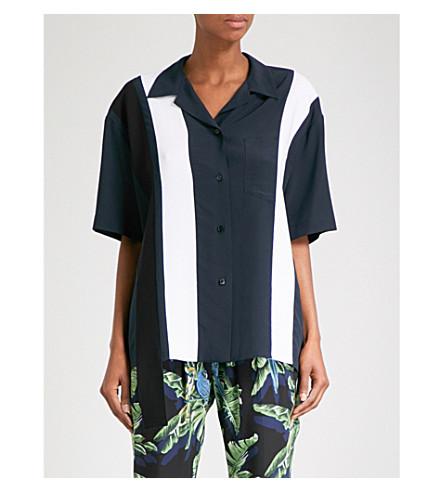 STELLA MCCARTNEY 条纹真丝衬衫 (墨水