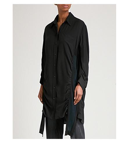 STELLA MCCARTNEY Longline silk shirt (Black