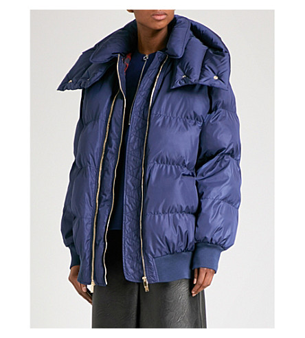 STELLA MCCARTNEY Shell puffer jacket (Blue
