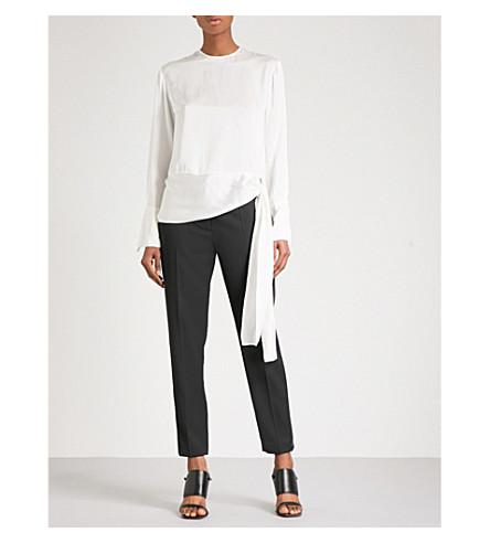 STELLA MCCARTNEY Tie-detail silk blouse (Ivory
