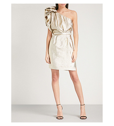 STELLA MCCARTNEY Ska silk-blend dress (Gold+met