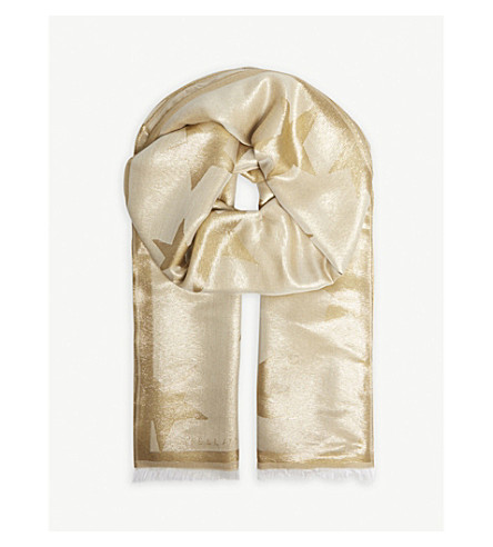 STELLA MCCARTNEY Metallic star scarf (Gold
