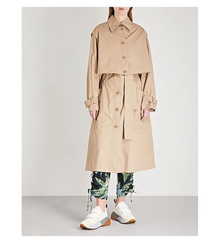 STELLA MCCARTNEY Hayley cotton trench coat (Tan