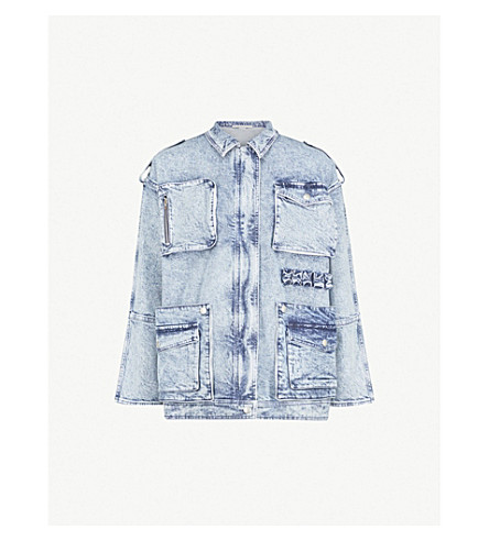 STELLA MCCARTNEY 80s wash denim jacket (Blue