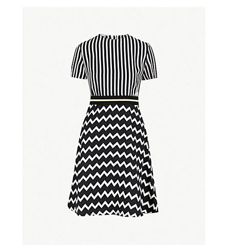 STELLA MCCARTNEY Petra striped silk dress (Black