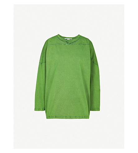 STELLA MCCARTNEY Oversized cotton sweatshirt (Green