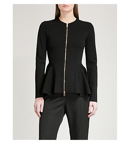 STELLA MCCARTNEY Zipped knit peplum jacket (Black