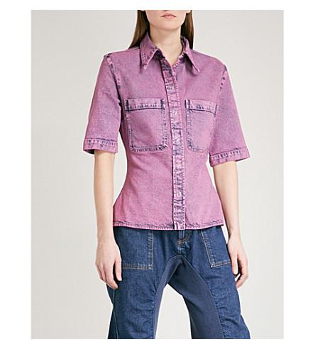 STELLA MCCARTNEY 80s acid wash denim shirt (Pink