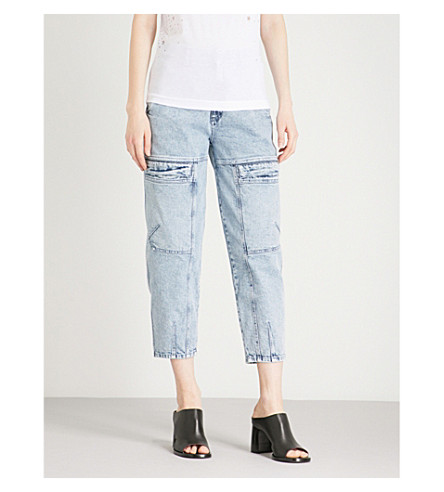 STELLA MCCARTNEY 80s Wash relaxed-fit high-rise jeans (Blue
