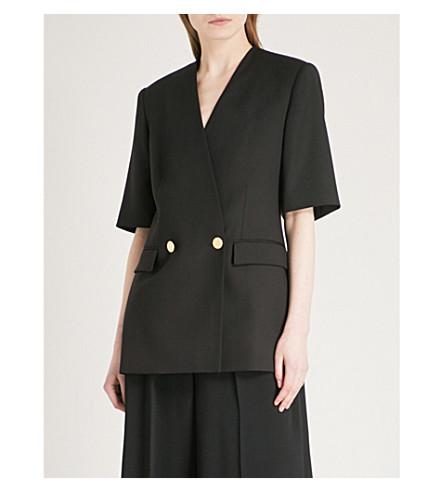 STELLA MCCARTNEY Lea double-breasted wool blazer (Black