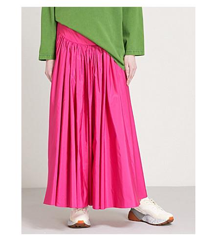STELLA MCCARTNEY Cynthia high-rise woven maxi skirt (Bright+pink