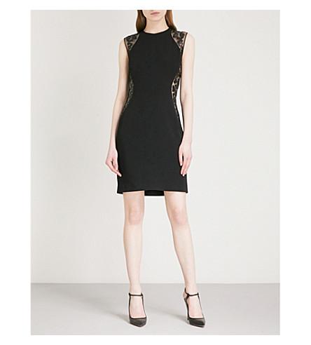 STELLA MCCARTNEY Laser cut stretch-crepe mini dress (Black