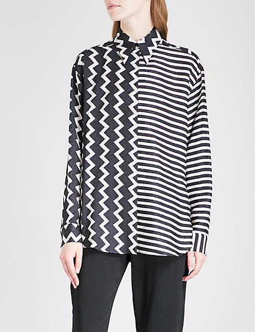 STELLA MCCARTNEY Multi-striped silk shirt