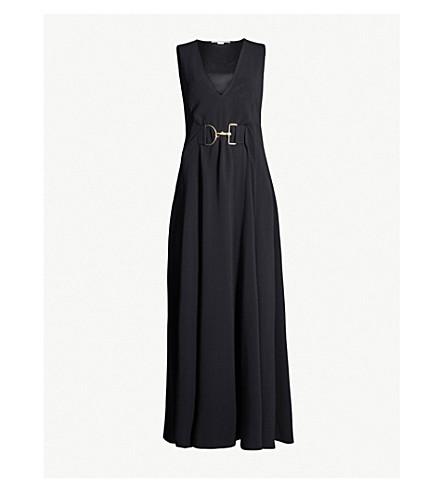 STELLA MCCARTNEY Metal detail crepe gown (Black