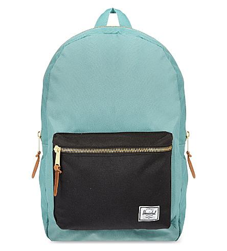 HERSCHEL Settlement backpack (Black/seafoam