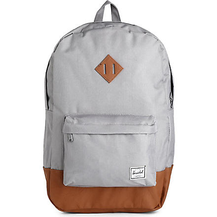 HERSCHEL Heritage canvas and suede backpack (Grey