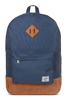 HERSCHEL Heritage canvas and suede backpack