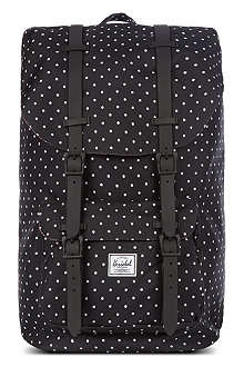 HERSCHEL Little America polka-dot backpack