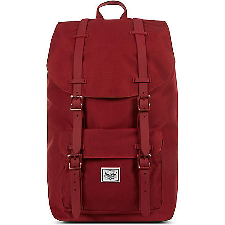 HERSCHEL Rubber Little America backpack (Burgundy