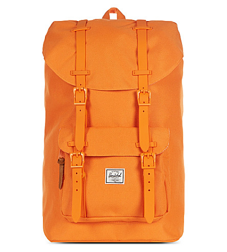 HERSCHEL SUPPLY CO Rubber Little America backpack (Mandarin