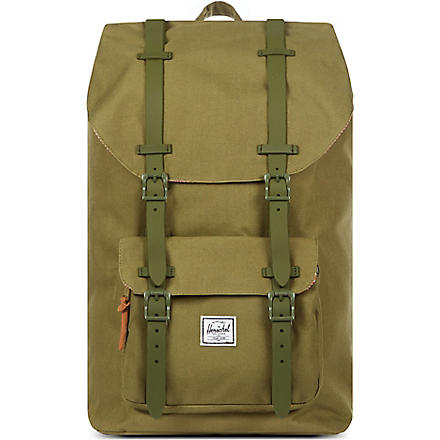 HERSCHEL Little America rubber-strap backpack (Army