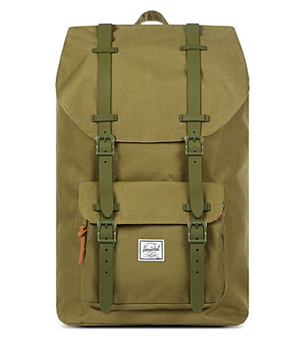 HERSCHEL SUPPLY CO Little America rubber-strap backpack (Army