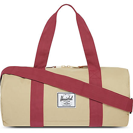 HERSCHEL Sutton canvas holdall (Khaki/burgundy