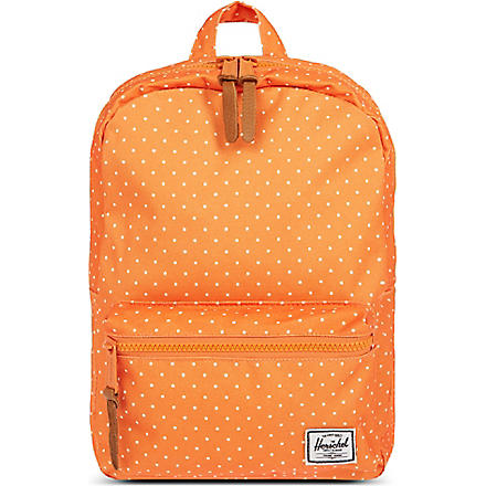 HERSCHEL Settlement kids backpack (Orange/polka dot