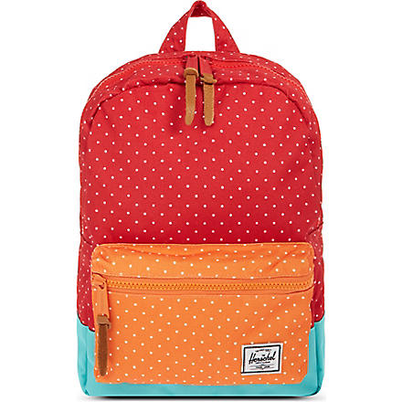 HERSCHEL Settlement kids backpack (Red polka dot/harlow
