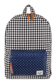 HERSCHEL Settlement houndstooth backpack