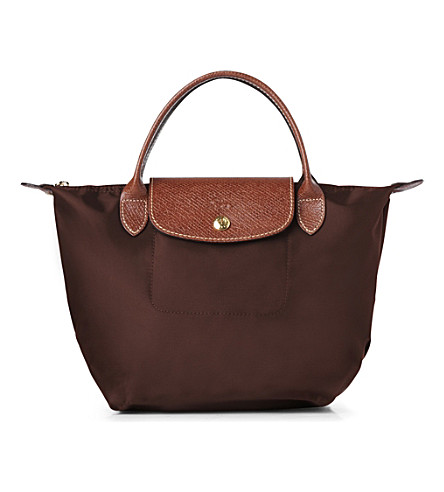LONGCHAMP Le Pliage small handbag in chocolate (Chocolate